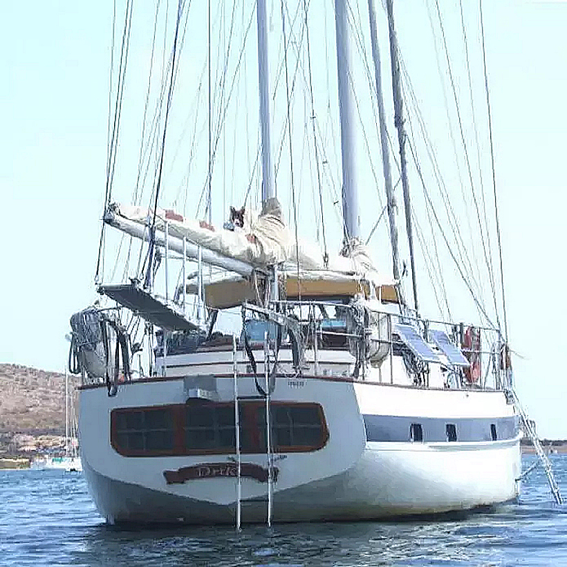 sq Drike in bay stern view